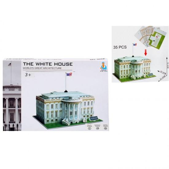 """3D пъзел """"Белият дом"""" /35 ел./"""